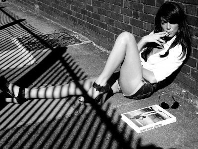 shadow lines with Helmut Newton